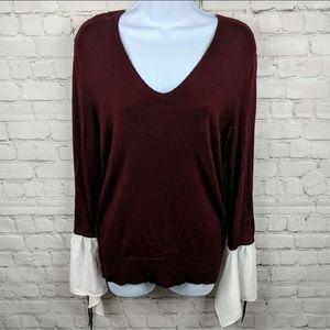 New York & Company Flowy Tie Sleeve Sweater